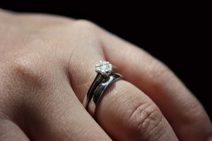 engagement ring hand